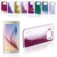 Fashion Glitter Star Liquid Back Phone Case Cover Skin For Samsung Galaxy Phones