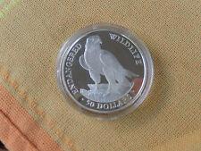 50 Dollars 1991 Cook-Islands Silber PP Falke