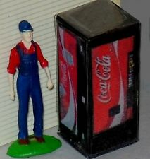 S Scale LIGHTED Vending Machine 1/64 Red Coke Machine - Illuminated (was $14.95)