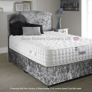3ft Single Elegant Crushed Velvet Divan Bed with Storage Option  ✅BEST ONLINE