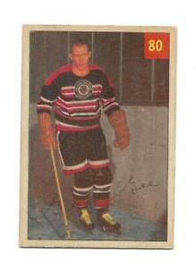 1954-55 Parkhurst:#80 George Gee,Black Hawks