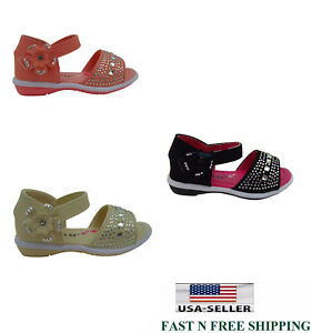 Infant Toddler Baby Girl's Rhinestones With Bow Gladiator Sandal Shoes size:2--9