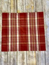 """Restoration Hardware Rust Red Plaid Pillow Cover 20"""" Cotton Yellow Tan"""