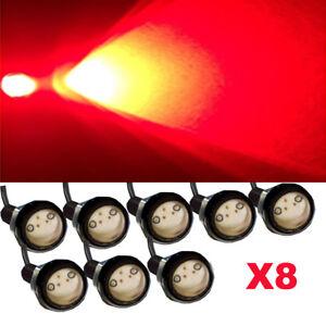 8X Red LED Car Truck 4x4 Front Grille Light Kit for Ford GMC Ram Eagle Light 12V