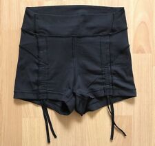 Lululemon Liberty Hot Shorts Yoga Ruched Ties Cinched VEUC 4 Black