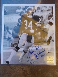 🔥WALTER PAYTON Chicago Bears Autograph B&W Photo COA W/Inscription Sweetness