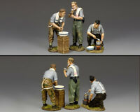 KING & COUNTRY WW2 GERMAN ARMY WS356 WASH, SHAVE AND EAT MIB