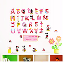 26 carta Mickey Minnie Mouse Mini Etiquetas de la Pared Adhesivo Decoración Hogar Cuarto de Niños Reino Unido