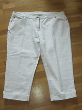 cotton traders white crop turn up jeans size 26 leg 22 brand new with tags