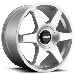 """19"""" Rotiform Six Alloy Wheels Silver 5x112 fits VW Caddy Mk3 Mk4"""