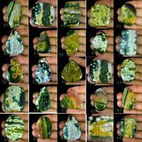 100% Natural Ocean Jasper Oval Madagascar Loose Cabochon Gemstone