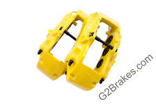 Yellow Porsche Cayenne Brembo 18Z calipers with PAINTED LETTERS