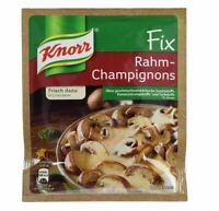 4 x Bag Knorr Fix Rahm-Champignons - New & Fresh from Germany !