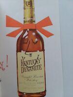Vtg ANTHROPOMORPHIC Kentucky BOURBON Bottle Rust Craft BIRTHDAY GREETING CARD