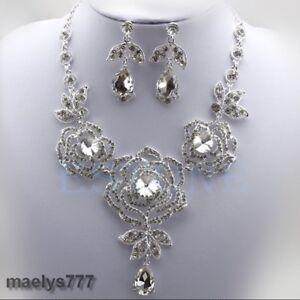 Parure Bijoux mariée collier, boucle d'oreille mariage cérémonie soirée