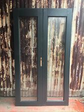 Timber French Doors With Large Glass Panels 1165w X 2040h X 40d