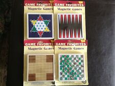 Mini Magnetic Travel Games Backgammon Snakes and Ladders,Chinese Checkers,Mill