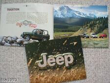 2002 JEEP Brochure/Catalog:GRAND CHEROKEE,WRANGLER,