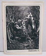 1973 Ambrosia II Sci-Fi Fantasy Pulp Fanzine/Magazine