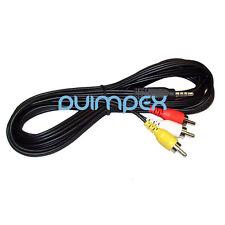G08 TV AV Kabel 3.5mm Klinke zu Cinch RCA Composite Video Stereo Audio Camcorder