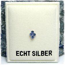 Neu 925 Silber NASENSTECKER mit SWAROVSKI STEINE in Saphir/Blau PIERCING