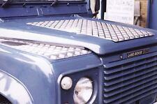 Riffelblech Motorhaube silber Land Rover Defender