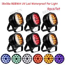 18X18W 6in1 led par light IP65 RGBWA UV LED par light 6pcs slient outdoor use