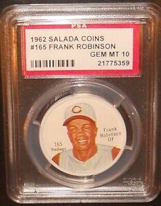 PSA 10 GEM MINT 10 - Frank Robinson 1962 Salada Coins Card Cincinnati Reds