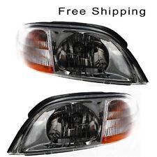 Halogen Head Lamp Assembly Set of 2 LH & RH Side Fits 2001-2003 Ford Windstar