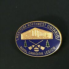 New listing CURLING PIN MANITOBA NORTWEST ROYAL CANADIAN LEGION (Missing screw on back)