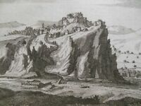 Engraving of Chonas or Couleisar (Turkey) 1717 - Ancient Turkish City (Levant)