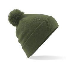 Bobble Hat Beanie Woolly Winter Womens Mens Ladies Knitted Ski Warm Hat Free PnP