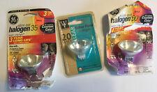 (3) Three Ge Halogen Spotlight, One Each 50 & 35 & 20 Watt Light Bulbs