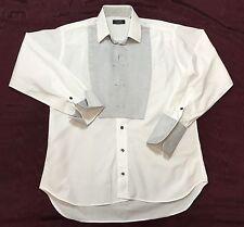 Gitman Bros Tuxedo Shirt Inset Yoke French Cuffs 15.5 Long Sleeve 33 USA