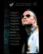 WWF WWE 2001-2002 The Rock Pay Per View Wrestling Calendar Ad Slick Mini Poster