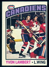 1976-77 OPC O PEE CHEE #232 YVON LAMBERT NM MONTREAL CANADIENS HOCKEY CARD
