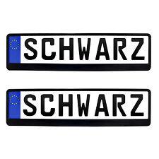 2x Kennzeichenhalter in Schwarz Kennzeichen Nummernschild Halter EU Norm Audi