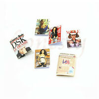 6pcs 1:12 Dollhouse Miniature Magazine Newspaper Book Study Room Accessory Gift