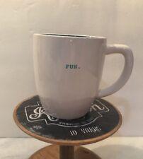 New Rae Dunn Magenta Fun Mug Coffee Cup Small Typewriter Print Dark Teal