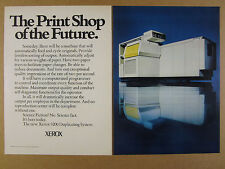 1974 Xerox 9200 Duplicating System 'print shop of the future' vintage print Ad
