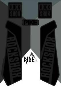 Rockshox PikeDecals and StickersStealthy Black/Grey, Enduro, DH
