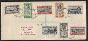 ASCENSION 1938 REGISTERED COVER TO LONDON WITH GV 1934 SHORT SET TO 1/-