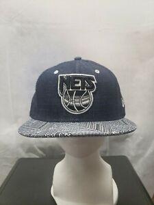 New Jersey Nets New Era 9fifty Hardwood Classics Denim Style Hat M/L NBA