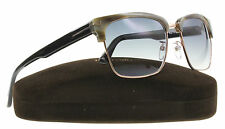 New Tom Ford Sunglasses Unisex TF 367 Olive Horn 60B River 57mm
