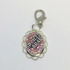 ~Spoiled Brat~ Crystal Rhinestone Diamante Dog Cat Collar Charm - Color Choice