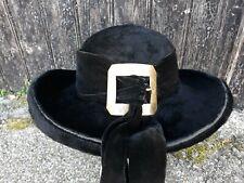 ancien chapeau Breton feutre poils Castor belle boucle