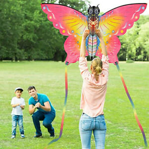 Butterfly Kite Outdoor Games & Activities Single Line Light Kite Flag Kid  MzQC
