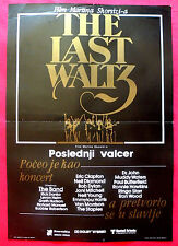 LAST WALTZ '78 THE BAND ROBERTSON WATERS YOUNG MARTIN SCORSESE EXYU MOVIE POSTER
