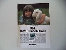 advertising Pubblicità 1984 PC PERSONAL COMPUTER OLIVETTI M20