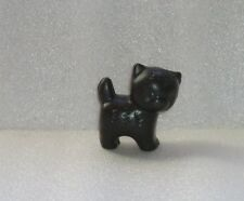 VINTAGE PLASTIC TOY DOLL FIGURE OF BLACK CAT/KITTEN